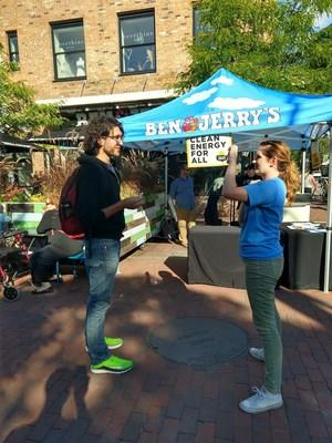 Sierra Club and Ben & Jerry's are asking people to talk about why they want to power the US with clean and renewable energy. Photo: Sierra Club