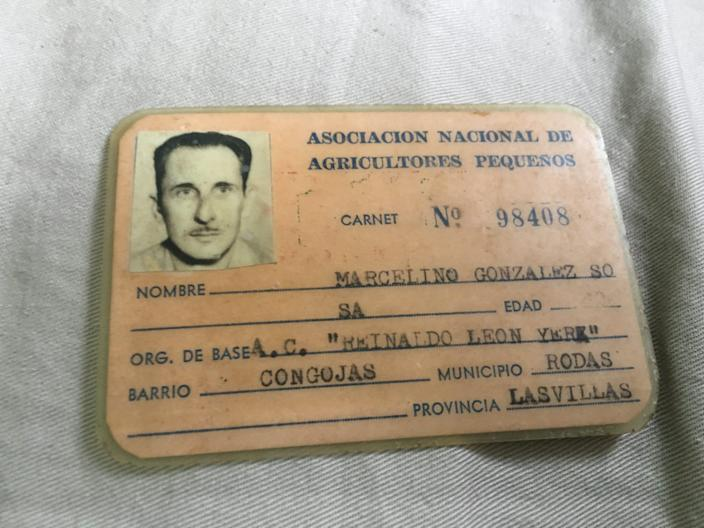 My great grandfather's identification card