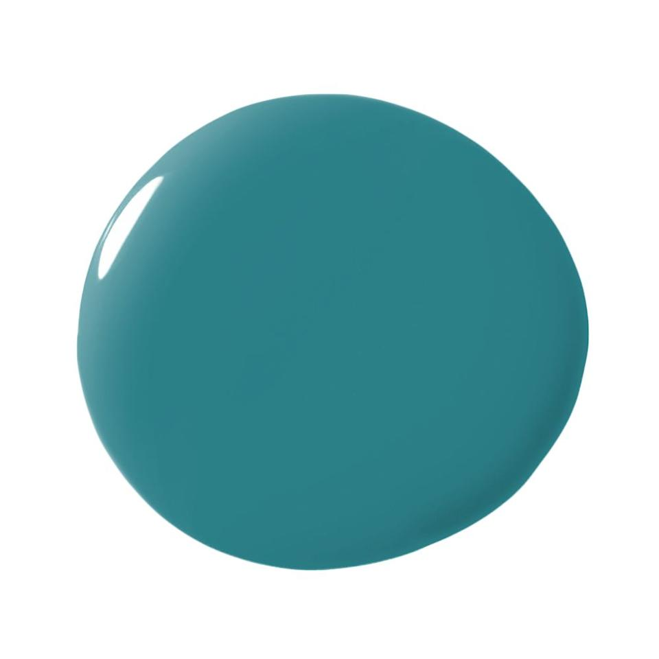"<p>""I love Benjamin Moore's 'Caribbean Blue Water' for its depth and intensity. I've used it both as a lacquer finish as well as dead flat, on walls and on a ceiling, and it never disappoints. Veering a bit towards teal, it looks good in bright sunlight as well as more dimly lit spaces, and pairs well with other colors almost as though it were a neutral."" -<strong><a rel=""nofollow"" href=""http://www.kellybehun.com/"">Kelly Behun</a></strong></p>"