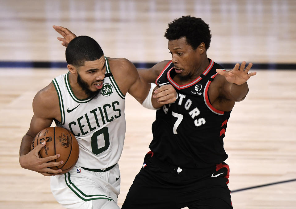 It was a brutal night at the perimeter for the Celtics. (Photo by Douglas P. DeFelice/Getty Images)