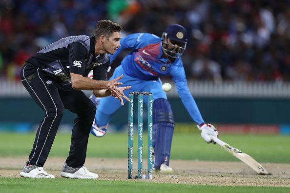 Tim Southee held his nerve in the final over to deliver a thrilling victory for New Zealand