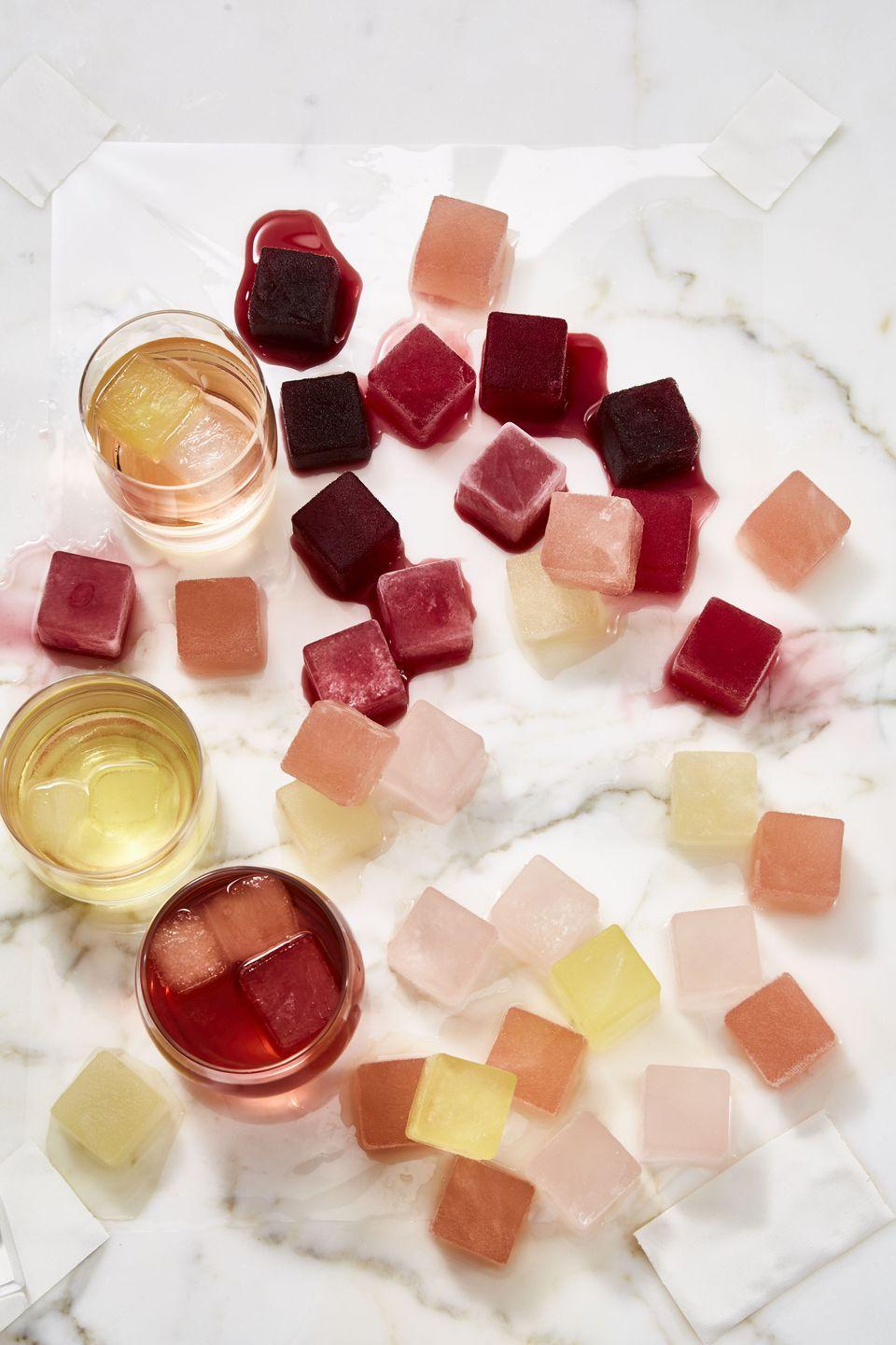 <p>It's always a great time to have wine! Freeze your favorite wine in ice trays (about 1 ounce per cube), then pop one or two into a light pour to make your glass last longer. You can also add a few cubes to sparkling water to keep it light. </p>