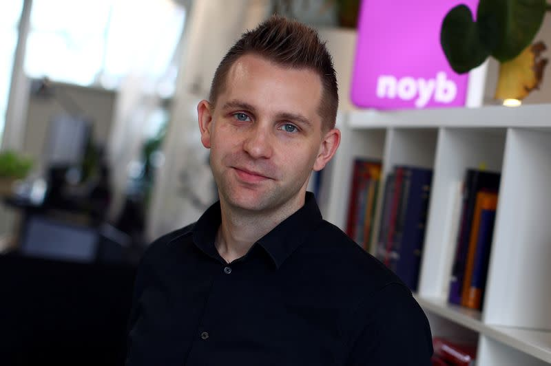 Max Schrems poses after a Reuters interview in Vienna