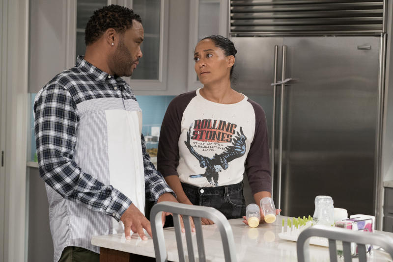 "On Tuesday's episode, ""Black-ish"" explored postpartum depression.  (Eric McCandless via Getty Images)"