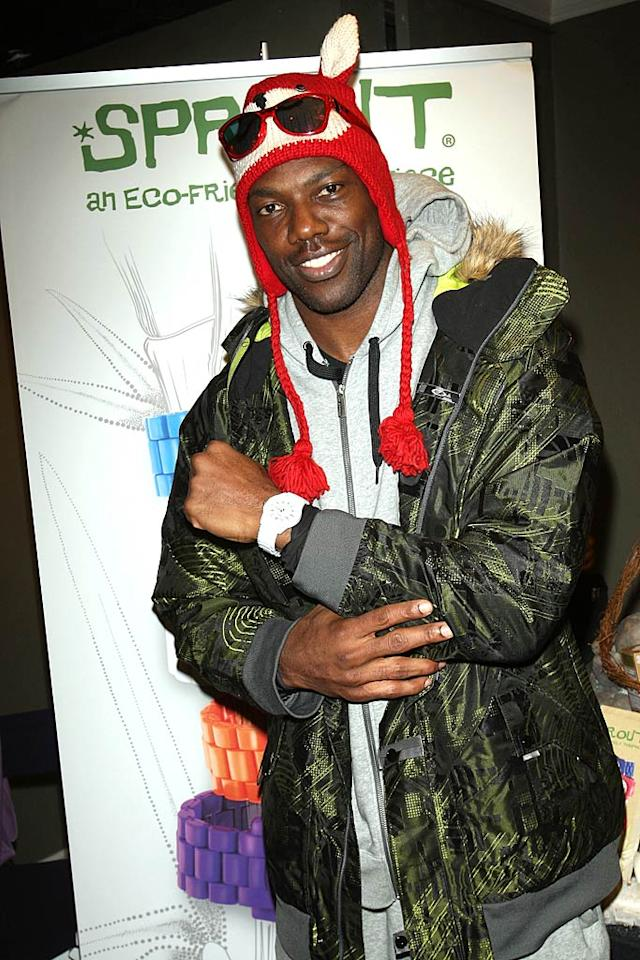 "Terrell Owens also learned to snowboard while in Park City. The NFL player/reality star received a one-on-one lesson from pro snowboarder the Dingo. Michael Bezjian/<a href=""http://www.wireimage.com"" target=""new"">WireImage.com</a> - January 22, 2011"