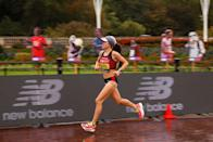 <p>Molly Seidel finished in sixth, setting a personal best by more than two minutes in just her second ever marathon.</p>