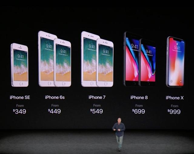 Apple's entire iPhone line-up.