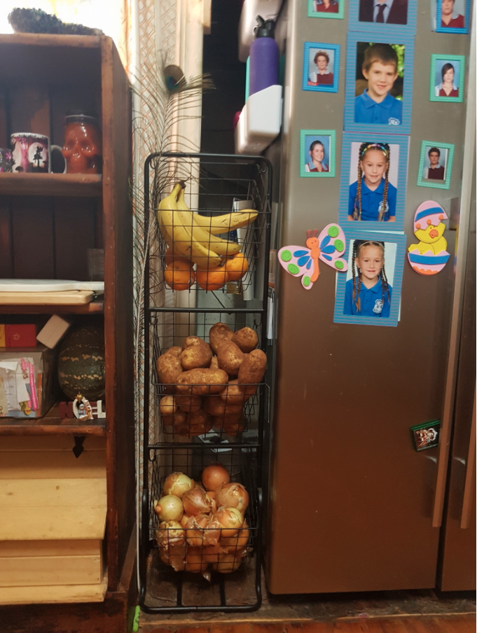 This mum uses stackable shelves. Photo: Facebook/Kmart Mums Australia