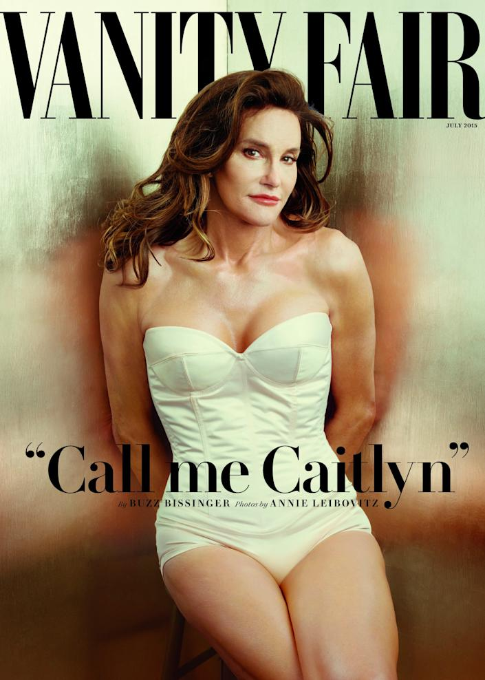 Caitlyn Jenner on the cover of Vanity Fair in 2015.