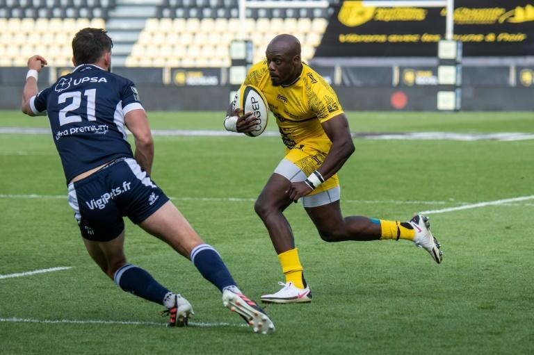 La Rochelle's Raymond Rhule took his try tally to eight for the season with his double over Agen