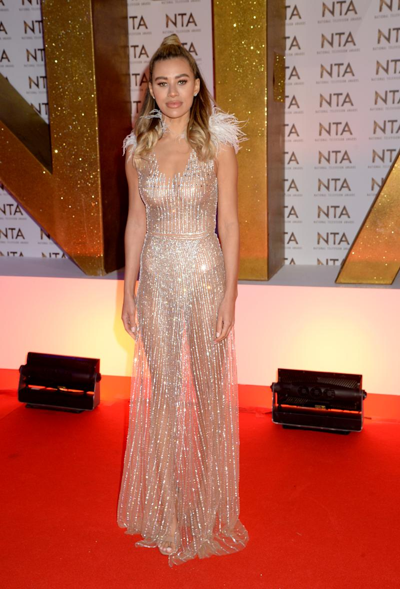 Montana Brown attends the National Television Awards 2020 at The O2 Arena on January 28, 2020 in London, England.