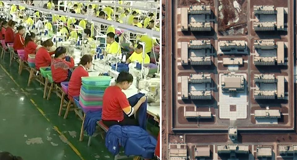 Factories inside the Chinese Uyghur camps.