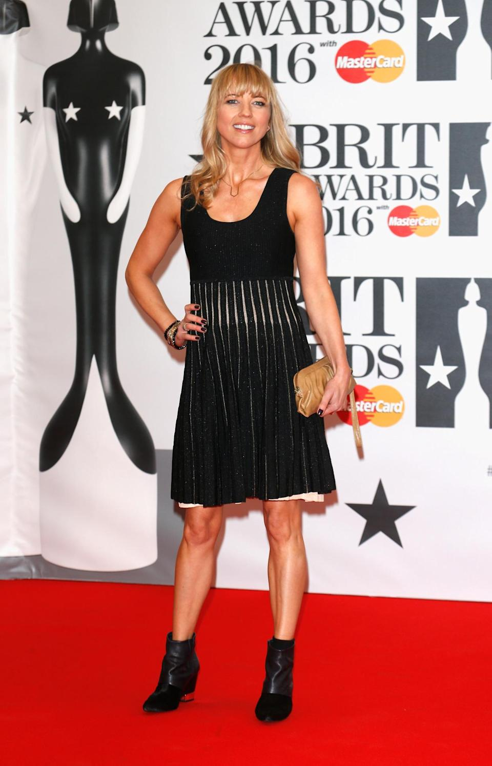 <p>The Radio 1 DJ opted for an edgy LBD and ankle boots combo.<i> [Photo: Getty]</i></p>
