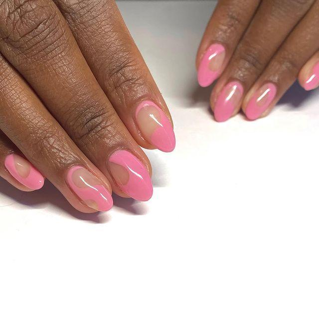 "<p>There's a time and place for sheer, plain pinks, but that time is not spring 2021, and that place is not on your nails. Just kidding, pale <a href=""https://www.cosmopolitan.com/style-beauty/beauty/g28495772/pink-nail-polish-colors/"" rel=""nofollow noopener"" target=""_blank"" data-ylk=""slk:pink nail polish"" class=""link rapid-noclick-resp"">pink nail polish</a> is one of those colors that works year-round, but this spring it's wayyy more fun than in seasons past. <strong>The bubbly shade is made even better when paired with an equally fun and playful design</strong>, like the organic shapes shown here.</p><p><a href=""https://www.instagram.com/p/CH0ggH6BEz2/?utm_source=ig_embed&utm_campaign=loading"" rel=""nofollow noopener"" target=""_blank"" data-ylk=""slk:See the original post on Instagram"" class=""link rapid-noclick-resp"">See the original post on Instagram</a></p>"