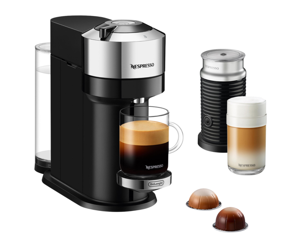 Nespresso Vertuo Next Deluxe Coffee & Espresso Machine with Aeroccino (Photo via Best Buy Canada)