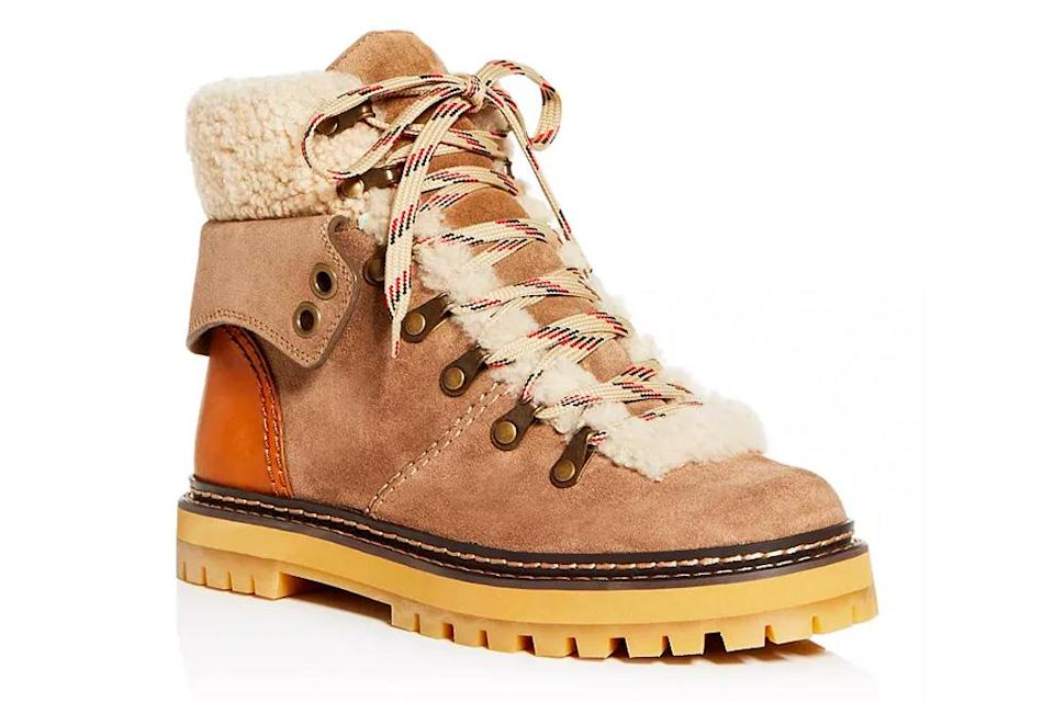 hiking boots, see by chloe