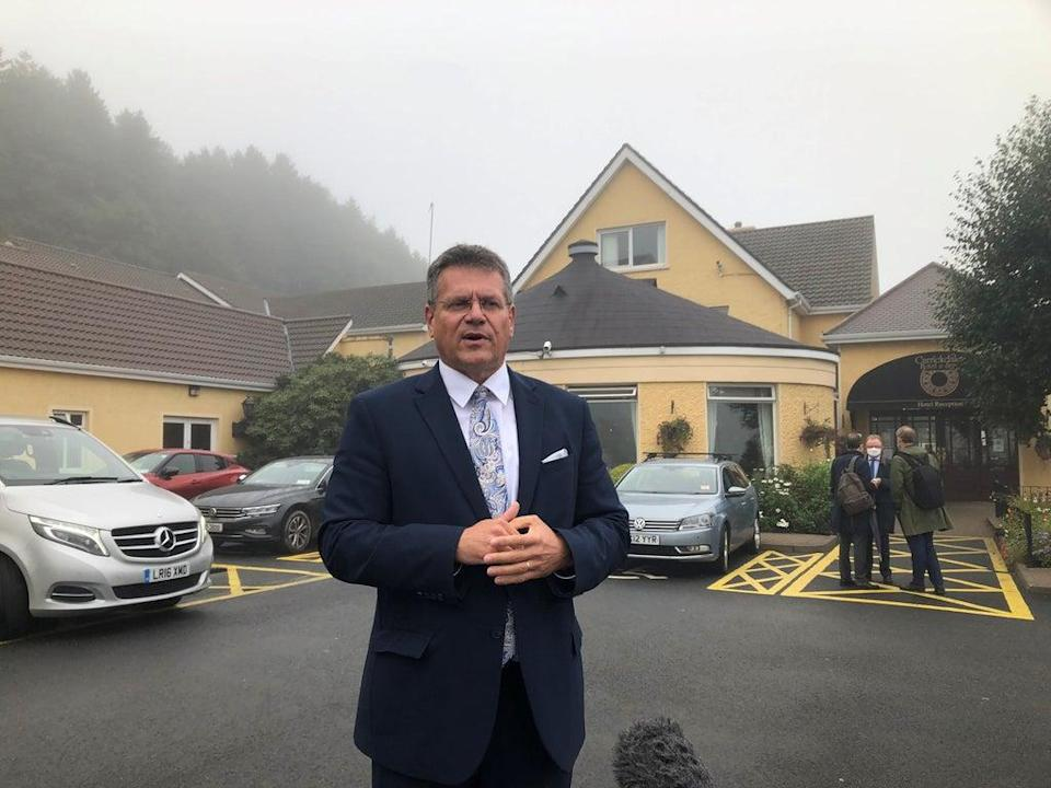 Maros Sefcovic said he wanted to find out what the 'concrete problems' are with the NI Protocol (Jonathan McCambridge/PA)