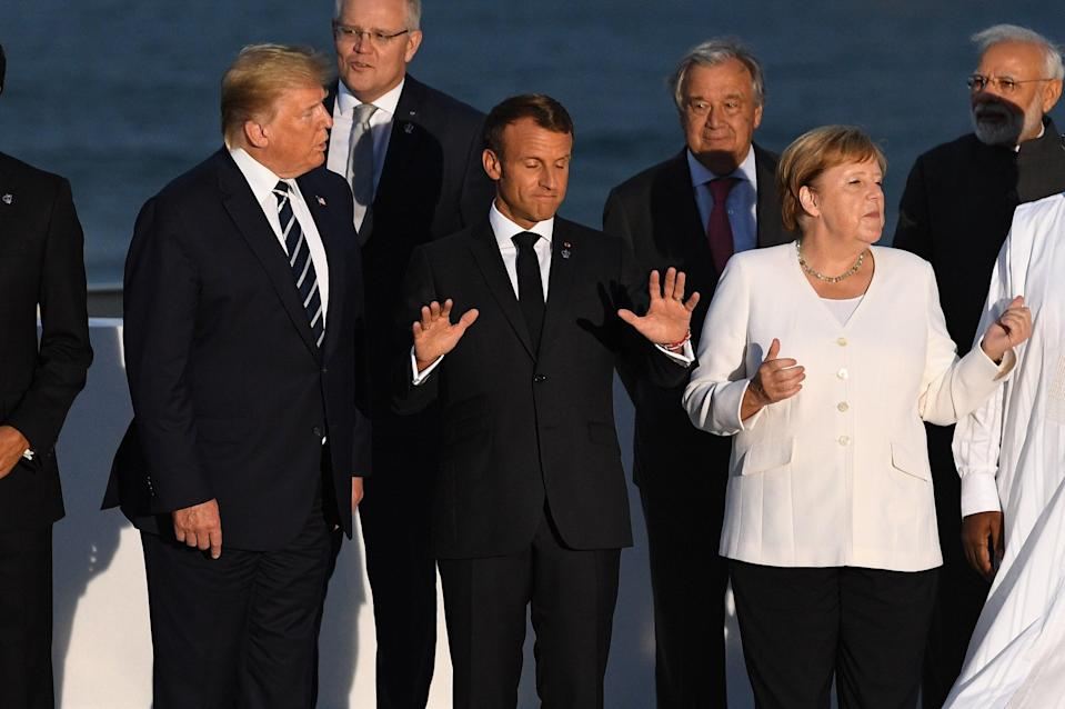 Heads of government attending the G7 Summit in Biarritz, France, in August 2019 (Getty Images)