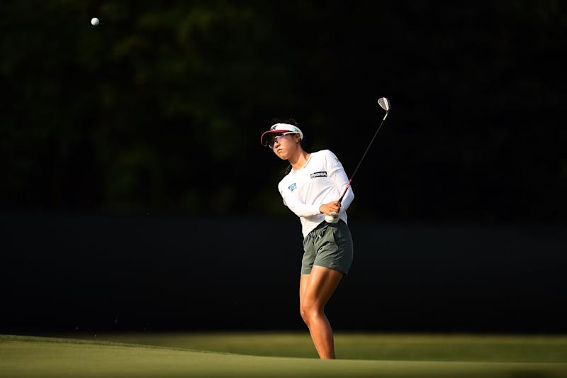 CHARLESTON, SOUTH CAROLINA - MAY 30: Lydia Ko of New Zealand chips to the third green during the first round of the U.S. Women's Open at the Country Club of Charleston on May 30, 2019 in Charleston, South Carolina. (Photo by Stacy Revere/Getty Images)