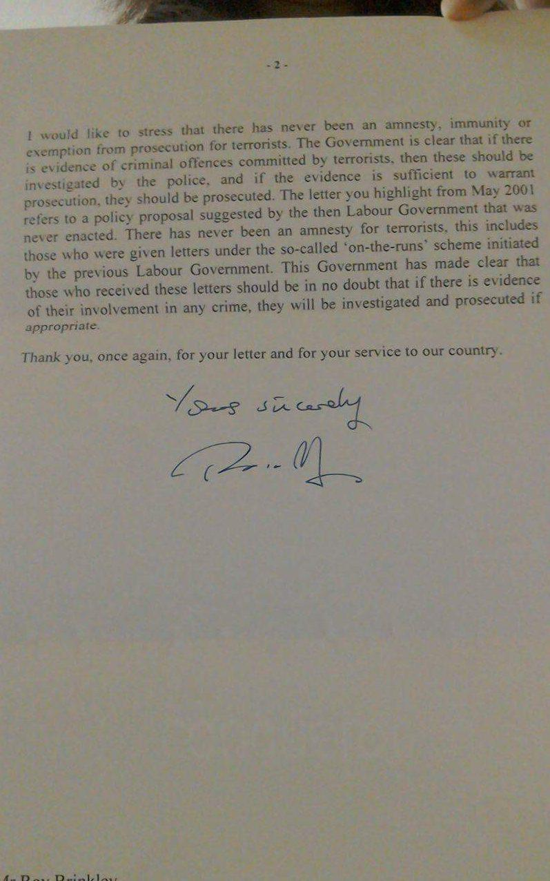 Theresa May's letter
