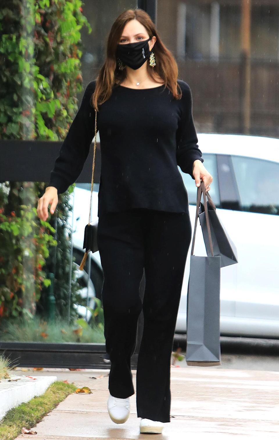 <p>Katharine McPhee goes last minute Christmas Eve shopping for her husband David Foster at Jhon Varvatos in West Hollywood on Thursday.</p>
