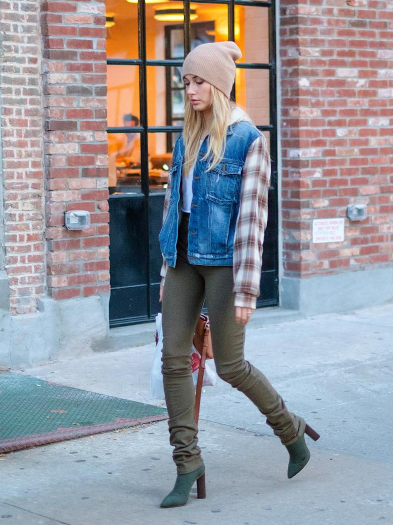 Flannel and denim go hand-in-hand.