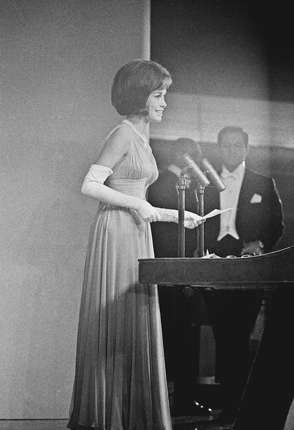 <p>Mary Tyler Moore at the 17th Annual Primetime Emmy Awards.</p>