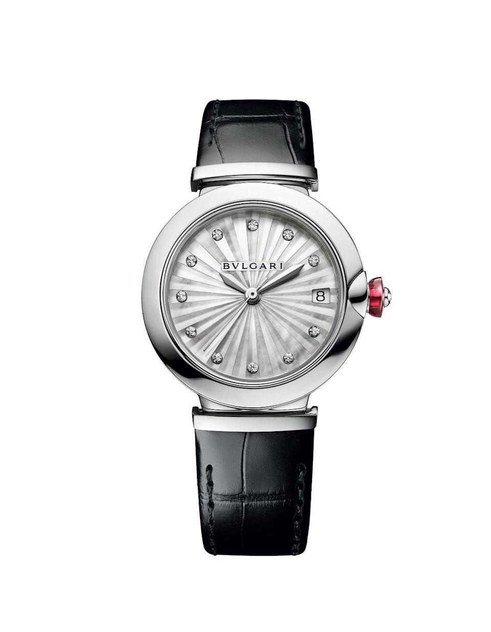 "<p><a class=""link rapid-noclick-resp"" href=""https://go.redirectingat.com?id=127X1599956&url=https%3A%2F%2Fwww.bulgari.com%2Fen-gb%2F103478.html&sref=https%3A%2F%2Fwww.harpersbazaar.com%2Fuk%2Ffashion%2Fjewellery-watches%2Fg37474%2Fbest-womens-watches%2F"" rel=""nofollow noopener"" target=""_blank"" data-ylk=""slk:SHOP NOW"">SHOP NOW</a></p><p>First launched in 2014, Bulgari's Lucea is subtle enough to be an everyday timepiece but also dressy enough to complement a favourite cocktail dress. </p><p>This year's Lucea stays true to the radiant styling that inspired its name: its luminous dial is constructed with slivers of mother-of-pearl, assembled to create the impression of movement and three-dimensional volume; a sparkling diamond sits at each hour marker; and a polished pink cabochon gemstone glows in its crown. </p><p>Lucea watch, £4,820, Bulgari</p>"
