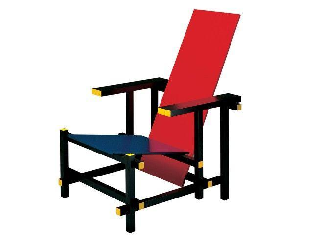 """<p><strong>Gerrit Rietveld</strong></p><p>rietveldoriginals.com</p><p><a href=""""https://www.rietveldoriginals.com/en/portfolio/cassina-red-blue-chair/"""" rel=""""nofollow noopener"""" target=""""_blank"""" data-ylk=""""slk:Shop Now"""" class=""""link rapid-noclick-resp"""">Shop Now</a></p><p>In Gerrit Rietveld's Red Blue chair, his affiliation with artist Piet Mondrian is apparent. Both were members of the De Stijl group, and Rietveld's geometric, primary-colored seat—originally designed in 1918 and colored in 1923—evokes Mondrian's paintings. </p>"""