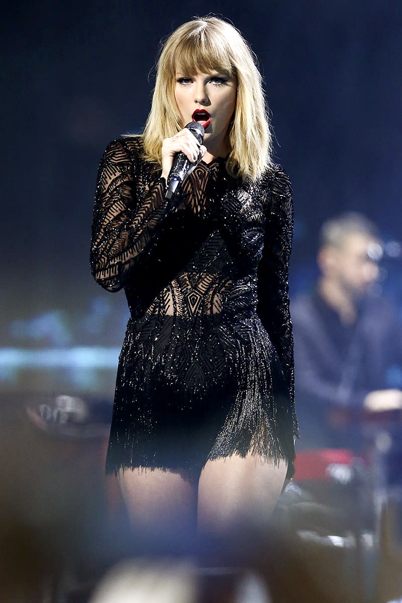 """<p>Swift, 27, is the youngest artist on this list. Her top seller is her 2008 sophomore album, Fearless (7 million). That Grammy-winning album spawned two of Swift's biggest hits, """"Love Story"""" (8 million) and """"You Belong with Me"""" (7 million). (Photo: John Salangsang/Invision/AP) </p>"""
