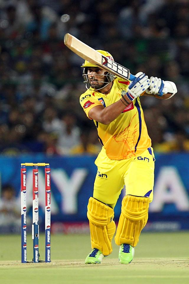Murali Vijay during match 61 of the Pepsi Indian Premier League ( IPL) 2013  between The Rajasthan Royals and the Chennai Supe Kings held at the Sawai Mansingh Stadium in Jaipur on the 12th May 2013. (BCCI)
