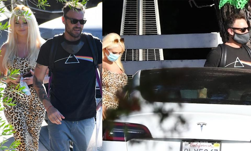 Courtney Stodden and Brian Austin Green pictured grabbing lunch together in L.A. (Photo: Backgrid)