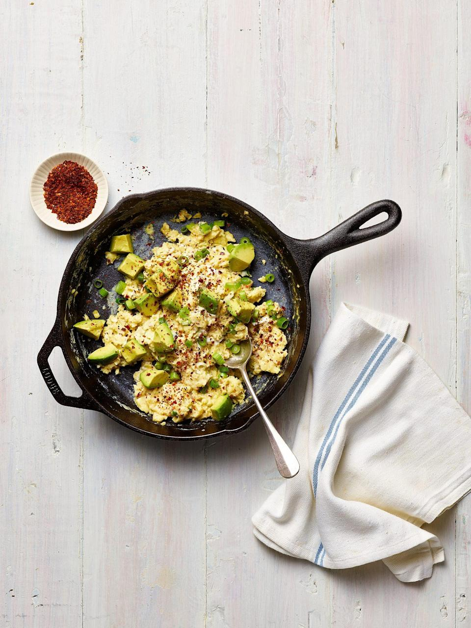 """<p>In the <em>Sunset</em> Test Kitchen, we love to sprinkle sun-dried, coarsely ground Eastern Mediterranean chile peppers--like Aleppo, Marash, and Urfa--on roasted chicken and potatoes, <a href=""""https://www.myrecipes.com/ingredients/best-avocado-recipes"""" rel=""""nofollow noopener"""" target=""""_blank"""" data-ylk=""""slk:avocado toast"""" class=""""link rapid-noclick-resp"""">avocado toast</a>, green salads, pizza, and especially scrambled eggs.</p>"""