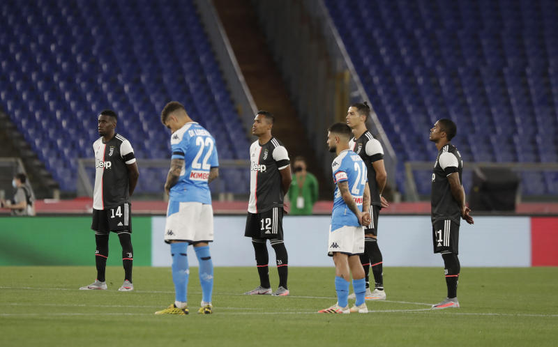Ronaldo can only watch as Napoli wins Italian Cup title