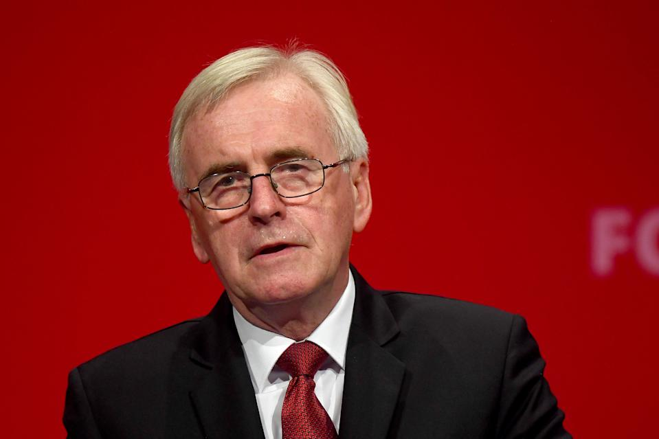 File photo dated 23/9/2019 of John McDonnell who has confirmed he will not be part of Labour's next shadow cabinet following the party's crushing defeat in Thursday's election.