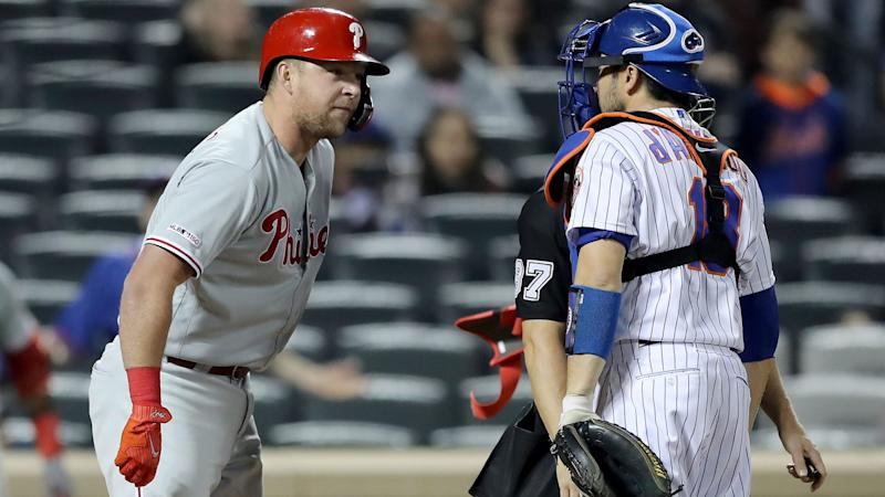 Carig: For Phillies' Rhys Hoskins, the cleanest response to a perceived indiscretion
