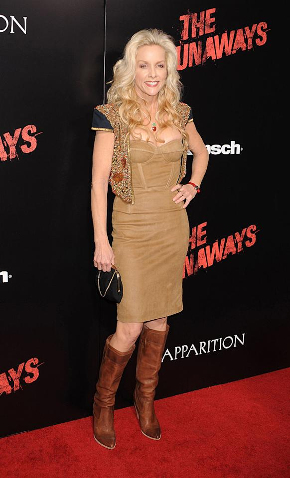 "<a href=""http://movies.yahoo.com/movie/contributor/1800067410"">Cherie Currie</a> at the Los Angeles premiere of <a href=""http://movies.yahoo.com/movie/1810129048/info"">The Runaways</a> - 03/11/2010"