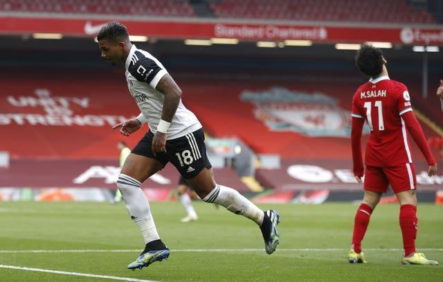 Mario Lemina (left) scored the winner as Liverpool were beaten 1-0 by Fulham on Sunday (Phil Noble/PA).