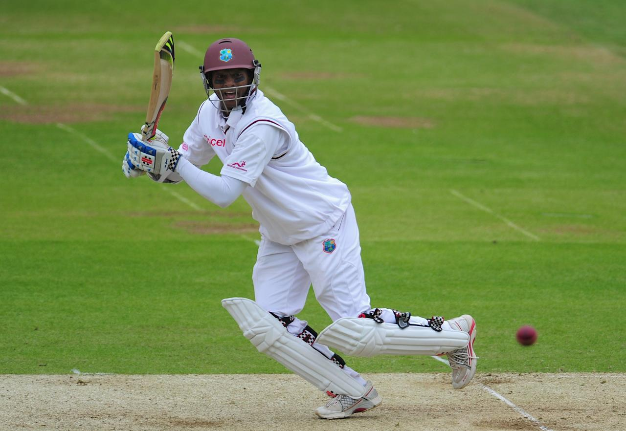 LONDON, ENGLAND - MAY 17:  West Indies batsman Shivnarine Chanderpaul in action during day one of the 1st Test match between England and West Indies at Lord's Cricket Ground on May 17, 2012 in London, England.  (Photo by Stu Forster/Getty Images)