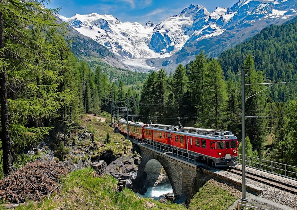 "<p>When it comes to visiting beautiful European destinations, the Swiss Alps and Italian lakes are two places that are hard to beat. </p><p>With their natural scenery, slow pace, glamorous towns and fresh air, we're always happy to spend a few days in St Moritz and Lake Como.</p><p>On an eight-day holiday to Italy and Switzerland this summer, you'll ride the brilliant Bernina Railway through alpine forests, relax at a fabulous lakeside hotel in Como and visit the glitzy Swiss town of St Moritz from £799.</p><p><strong>When?</strong> June, July and September 2021</p><p><a class=""link rapid-noclick-resp"" href=""https://www.primaholidays.co.uk/tours/lake-como-st-moritz-bernina-railway"" rel=""nofollow noopener"" target=""_blank"" data-ylk=""slk:FIND OUT MORE"">FIND OUT MORE</a></p>"