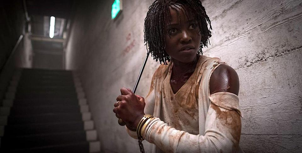 """<p>Another brilliant invention from Jordan Peele, this allegorical horror features a family who discover their violent doppelgängers while on vacation. </p><p><a class=""""link rapid-noclick-resp"""" href=""""https://www.amazon.com/Us-Lupita-Nyongo/dp/B07PH2LGM2/ref=sr_1_1?crid=2NTJA58B8KONC&dchild=1&keywords=us+prime+video&qid=1594906209&s=instant-video&sprefix=us+prime+vi%2Caps%2C156&sr=1-1&tag=syn-yahoo-20&ascsubtag=%5Bartid%7C10055.g.29579568%5Bsrc%7Cyahoo-us"""" rel=""""nofollow noopener"""" target=""""_blank"""" data-ylk=""""slk:WATCH NOW"""">WATCH NOW</a></p>"""