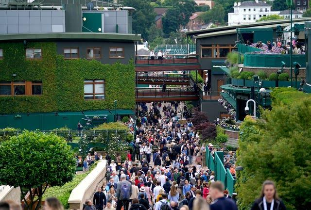Fans have been welcomed back to Wimbledon this year