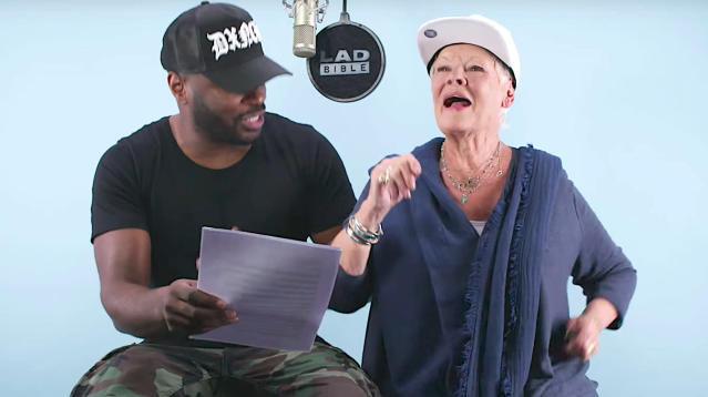 The Academy Award-winning actress can now add rapping to her repertoire after she joined British grime star Lethal Bizzle for a lyrical lesson.