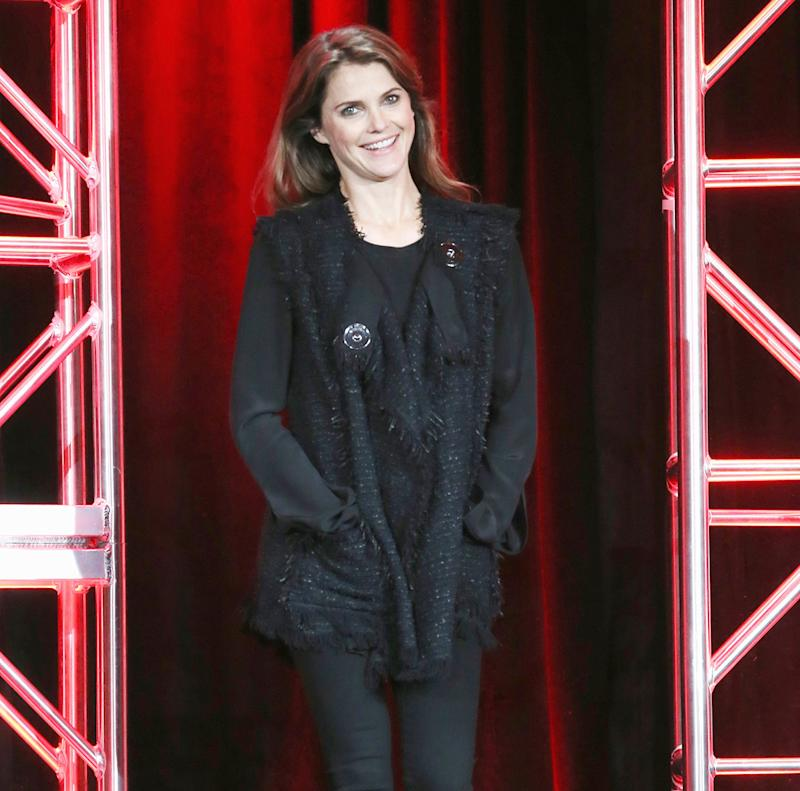 'The Americans' stars Keri Russell and Matthew Rhys were asked by reporters on Saturday, Jan. 16, how her pregnancy will affect the show — read Rhys' hilarious response!