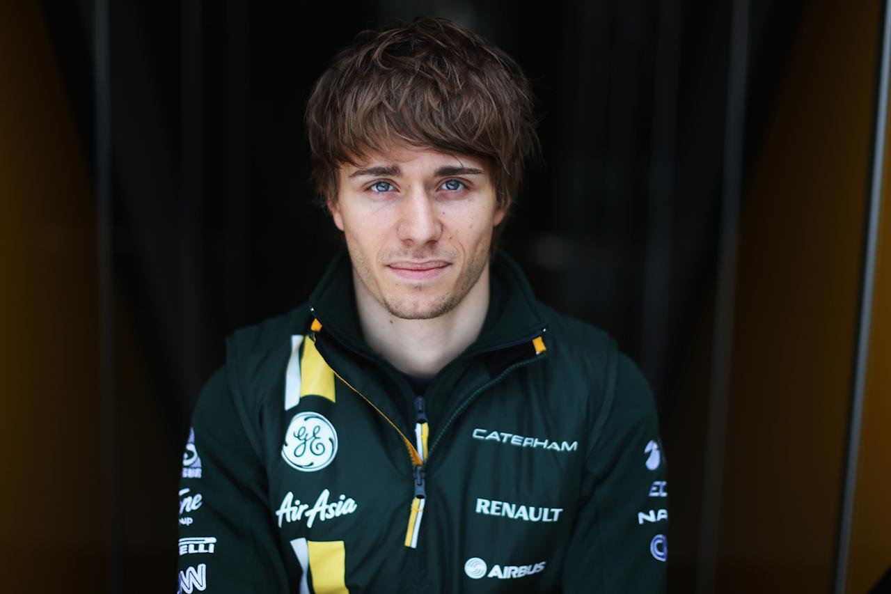 MONTMELO, SPAIN - MARCH 02:  Charles Pic of France and Caterham poses for a photograph during day three of Formula One winter testing at the Circuit de Catalunya on March 2, 2013 in Montmelo, Spain.  (Photo by Mark Thompson/Getty Images)