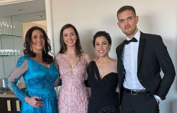PHOTO: Melissa Berton, Helen Yenser, Rayka Zehtabchi, Sam Davis pose for a photo. (Netflix)