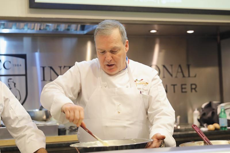 NEW YORK, NY - APRIL 16: Chef Jacques Torres leads Chocolate demonstration at The 8th Annual New York Culinary Experience Presented By New York Magazine And The International Culinary Center - Day 1 at New York Culinary Experience on April 16, 2016 in New York City. (Photo by Neilson Barnard/Getty Images for the New York Culinary Experience)