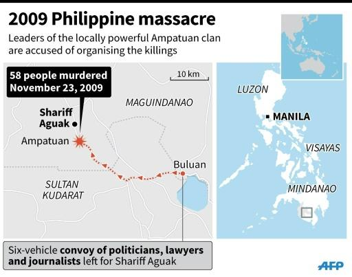 Graphic on the 2009 massacre in southern Philippines that left 58 people killed
