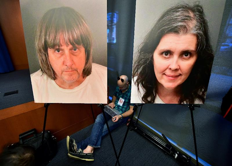 David and Louise Turpin admitted to imprisoning and torturing 12 of their 13 children (AFP Photo/FREDERIC J. BROWN)
