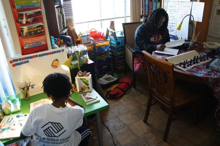 Ayinde (L), and his older brother Zion are two of the roughly 1.8 million homeschooled students in the United States